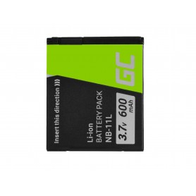 Green Cell Digital Camera Battery for Canon PowerShot A2300 IS A2400 IS A3400 IS A3500 IS SX400 SX410 SX420 IS 9 3.7V 600mAh