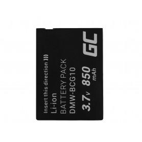 Green Cell Digital Camera Battery for Panasonic Lumix DMC-TZ10 DMC-TZ20 DMC-TZ30 DMC-ZS5 DMC-ZS10 DMC-ZX1 DMC-ZX3 3.7V 850mAh