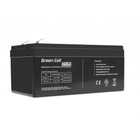 Green Cell AGM Battery 12V 3.3Ah