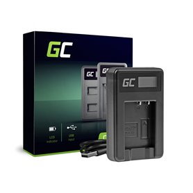 Green Cell Charger DE-A65BB Panasonic DMW-BCG10 Lumix DMC-TZ10 DMC-TZ20 DMC-TZ30 DMC-ZS5 DMC-ZS10 DMC-ZX1