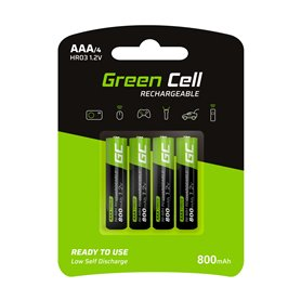 Green Cell 4x Akumulator AAA HR03 800mAh