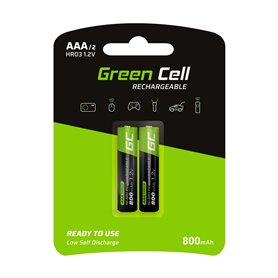 Green Cell 2x Akumulator AAA HR03 800mAh