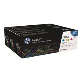 HP 304A 3-pack Yellow/Cyan/Magenta toner