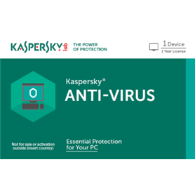 Kaspersky Antivirus - CARD - New - 1 Year - 1 Device