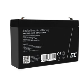 Battery AGM VRLA Green Cell 6V 7.2Ah
