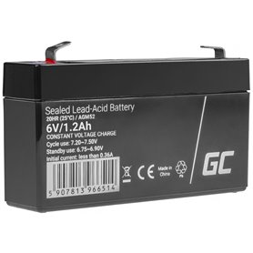 AGM Battery Lead Acid AGM VRLA Green Cell 6V 1.2Ah for toys and alarms