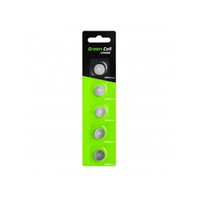 Blister 5x Battery Green Cell LR44 1.5V