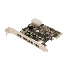 Con PCIe USB3.0 Logilink PC0057A 4-Port