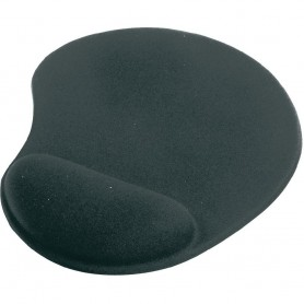 Ednet Gel Mouse Pad mouse pad with wrist pillow - black