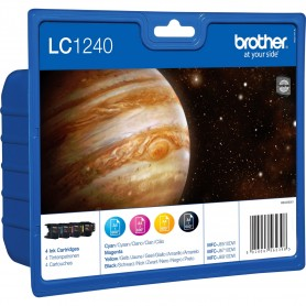 Brother LC1240 Multipack of Ink Cartridges Black/Cyan/Magenta/Yellow