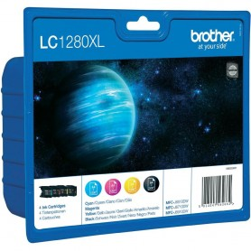 Brother LC1280XL Multipack of Ink Cartridges BK/C/M/Y Value Pack