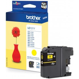 Brother LC121Y Yellow Original Ink Cartridge