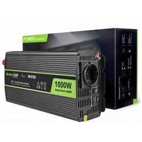 Green Cell Car Power Inverter 12V to 230V, 1000W / 2000W Pure sine wave