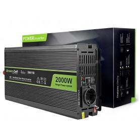 Green Cell Car Power Inverter 12V to 220V, 2000W / 4000W