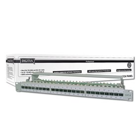 "DIGITUS DN-91624S - patch panel - 1U - 19"" CAT6 gr"