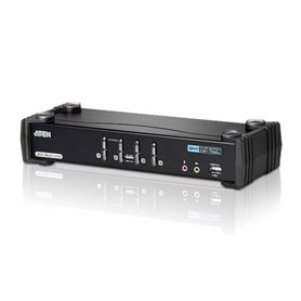 KVM Sw. Aten 4P. USB DVI 3D audio