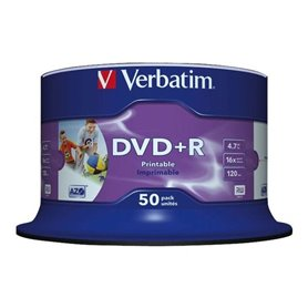 Verbatim 4.7GB 50pcs Media DVD+R  Printable
