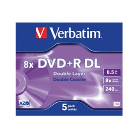 Verbatim - DVD+R DL x 5 - 8.5 GB - storage media